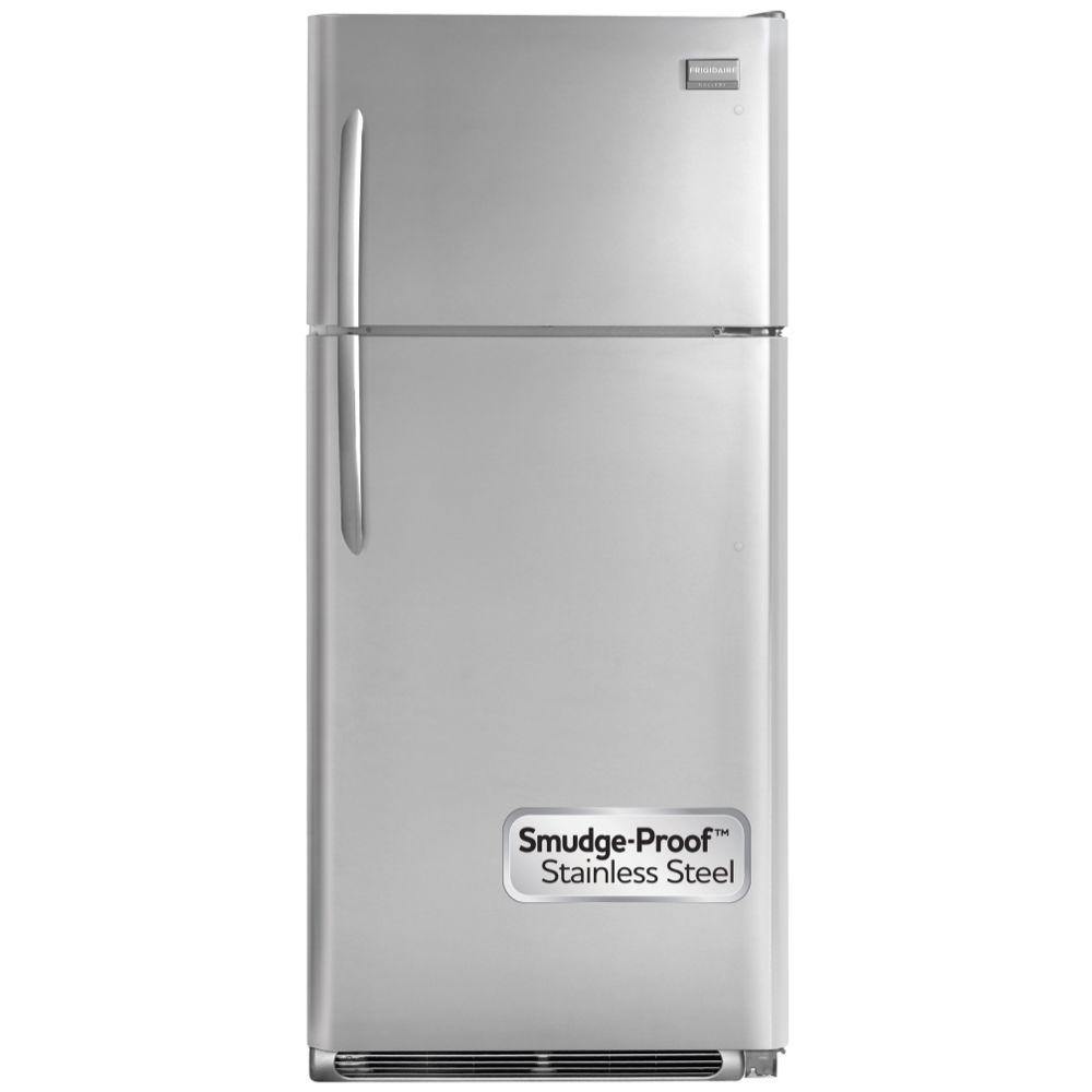 Frigidaire Gallery 18 cu. ft. Top Freezer Refrigerator in Stainless Steel