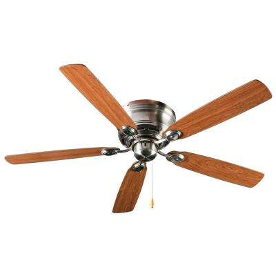 Pull Chain 52 in. Indoor Brushed Nickel Ceiling Fan