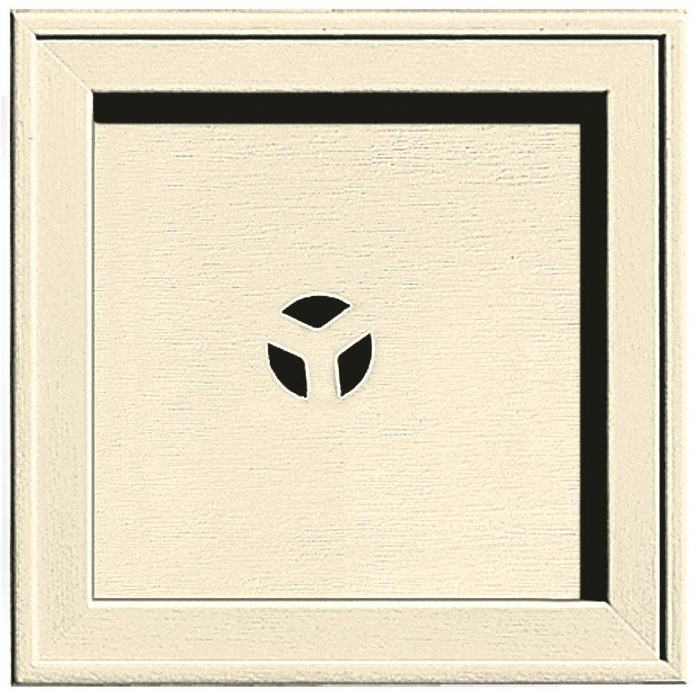 7.75 in. x 7.75 in. #020 Heritage Cream Recessed Square Mounting