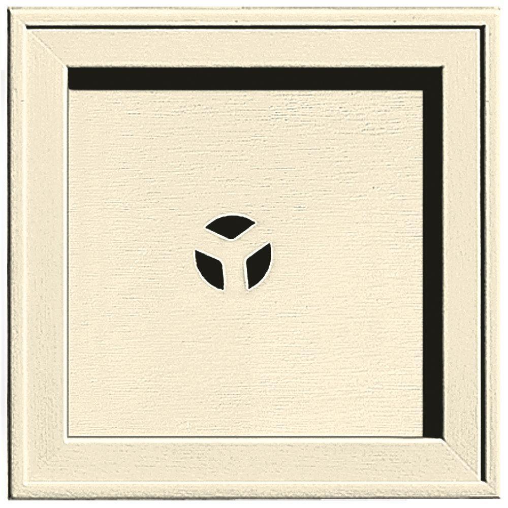 Builders Edge 7.75 in. x 7.75 in. #020 Heritage Cream Recessed Square Mounting Block