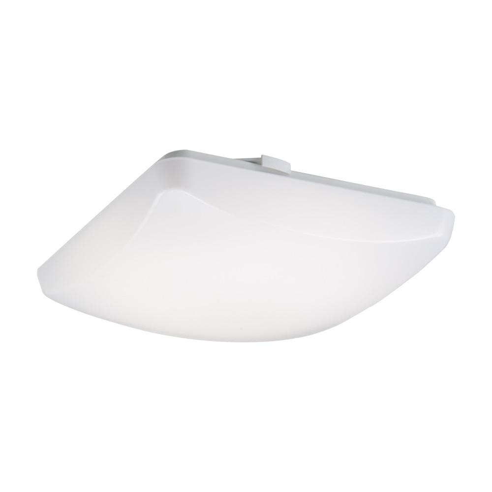 Metalux FM 15 in. White Square Integrated LED Flush Mount Light with Selectable Color Temperature