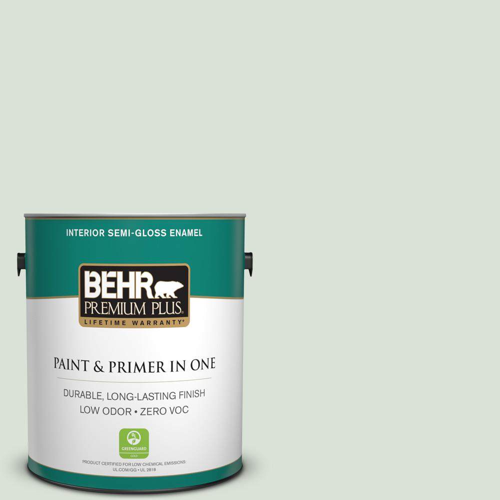BEHR Premium Plus 1-gal. #N390-1 Light Mist Semi-Gloss Enamel Interior Paint