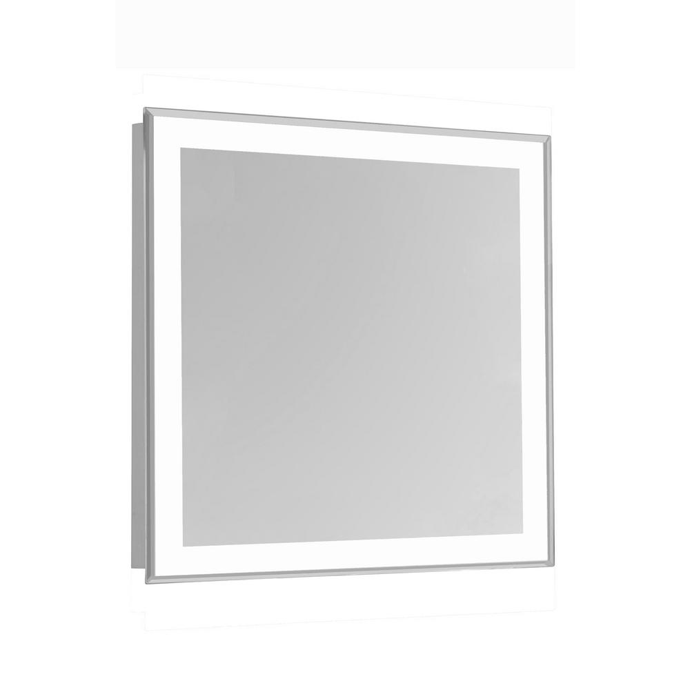 Klein 36 in. x 36 in. 4 Sides LED Edge Wall Mirror with Rectangle ...