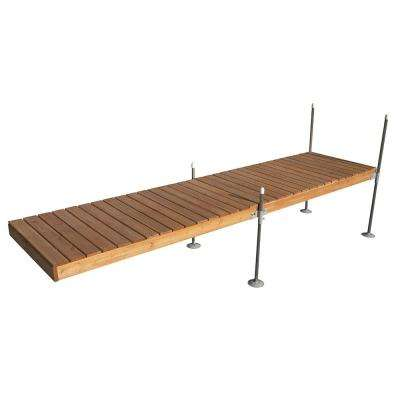 16 ft. Straight Cedar Complete Dock Package