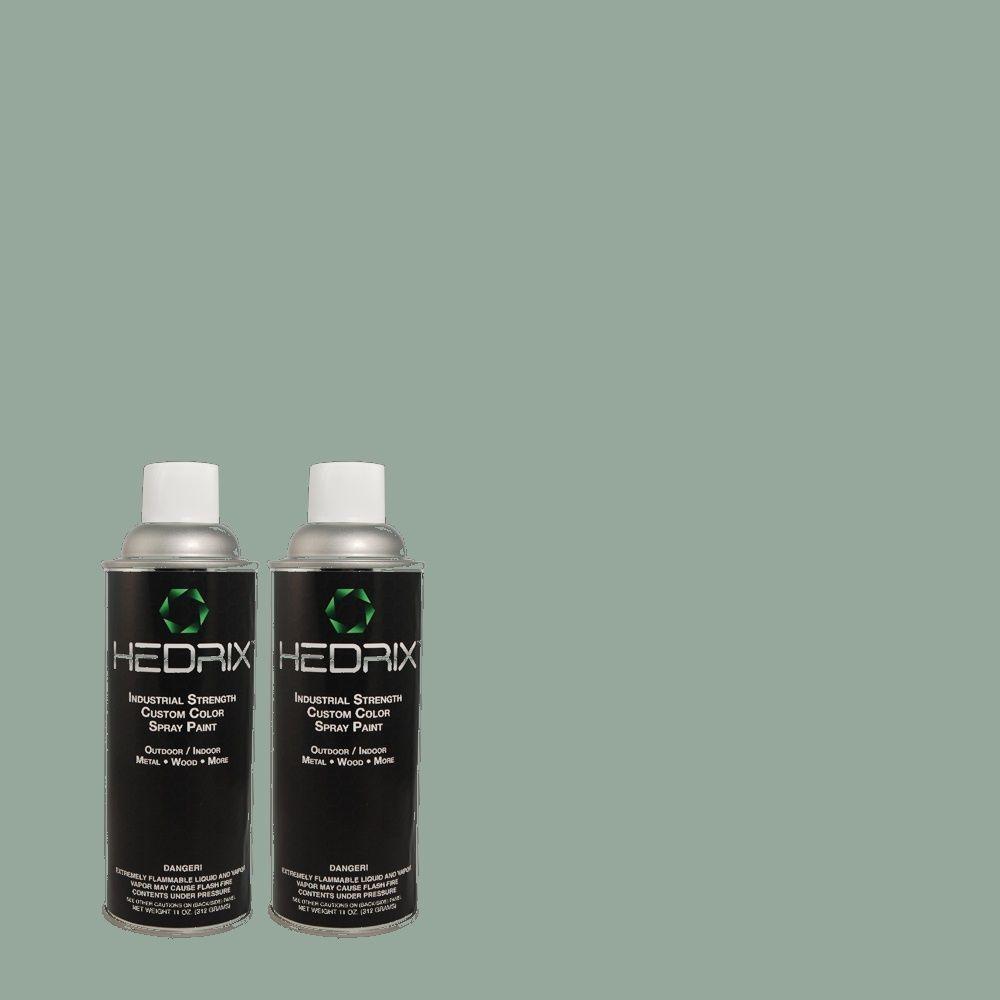 Hedrix 11 oz. Match of PPU13-8 Venus Teal Flat Custom Spray Paint (2-Pack)