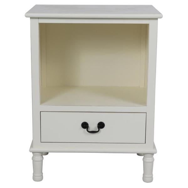 Decor Therapy Williamson White Side Table FR8699