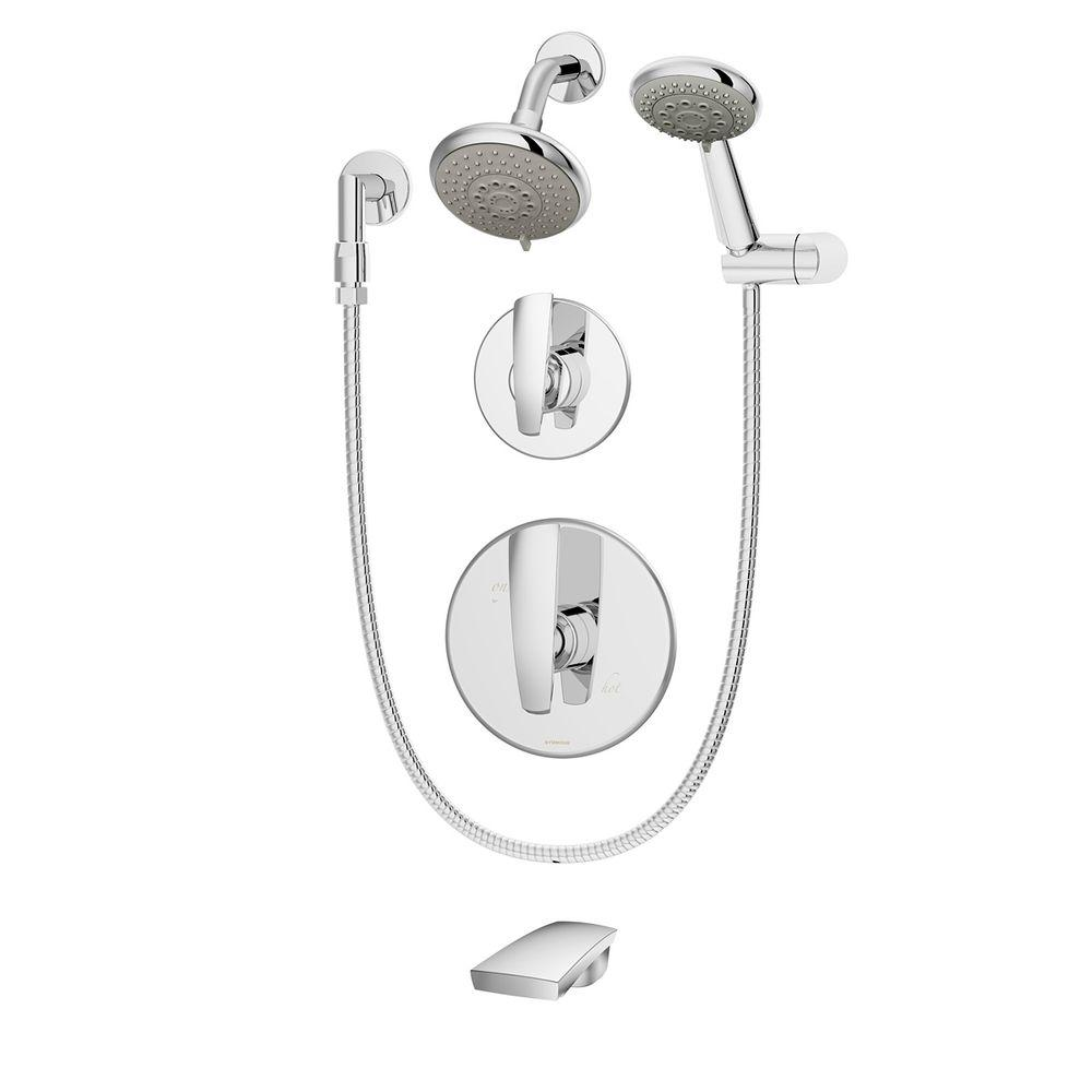 Symmons Naru Single-Handle 3-Spray Tub and Shower Faucet in Chrome (Valve Included)