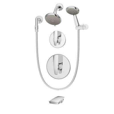 Naru Single-Handle 3-Spray Tub and Shower Faucet in Chrome (Valve Included)