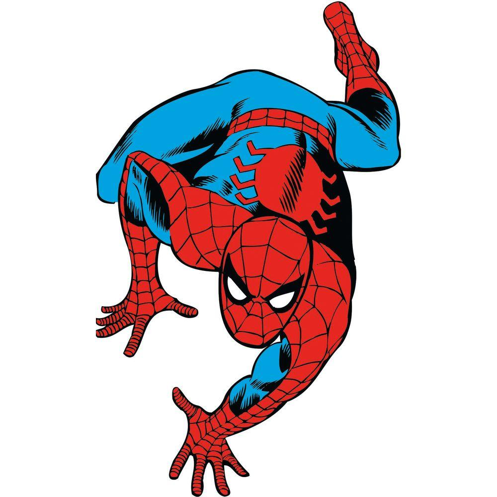 null 5 in. x 19 in. Marvel Classic Spiderman Peel and Stick Giant Wall Decals