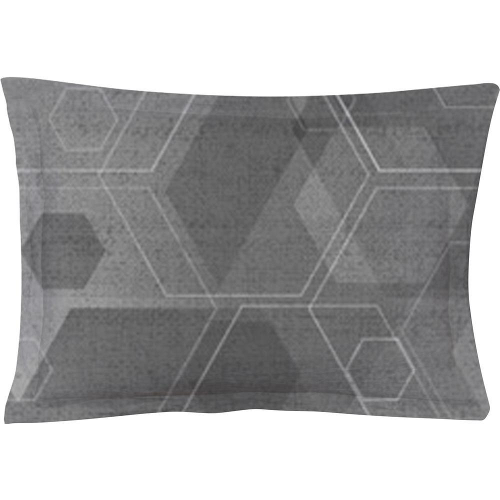 Hexad Black/White Queen Pillow Cover (Set of 2)