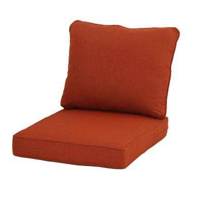 23.25 x 27 Outdoor Lounge Chair Cushion in Standard Orange