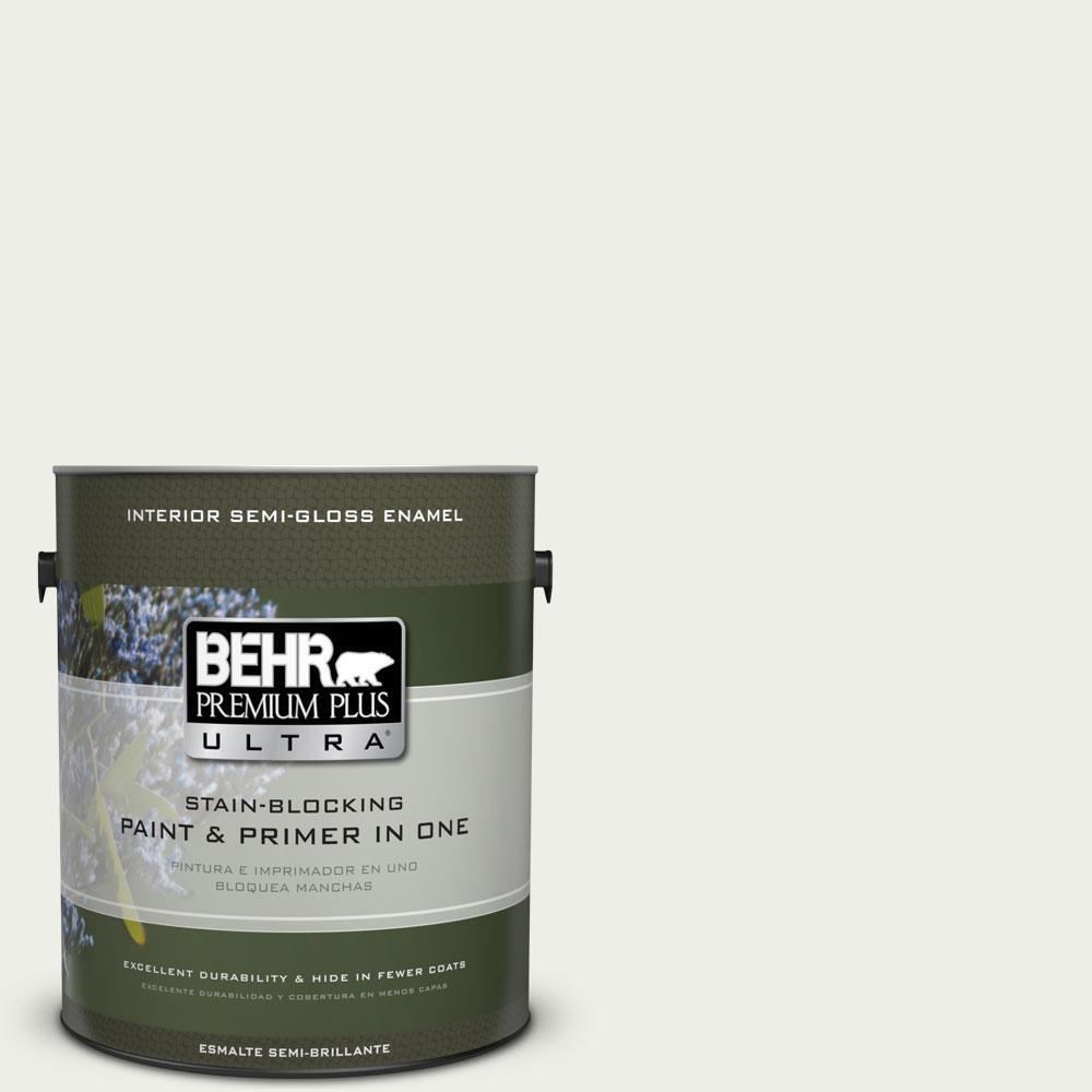BEHR Premium Plus Ultra 1-gal. #410E-1 Frostwork Semi-Gloss Enamel Interior Paint