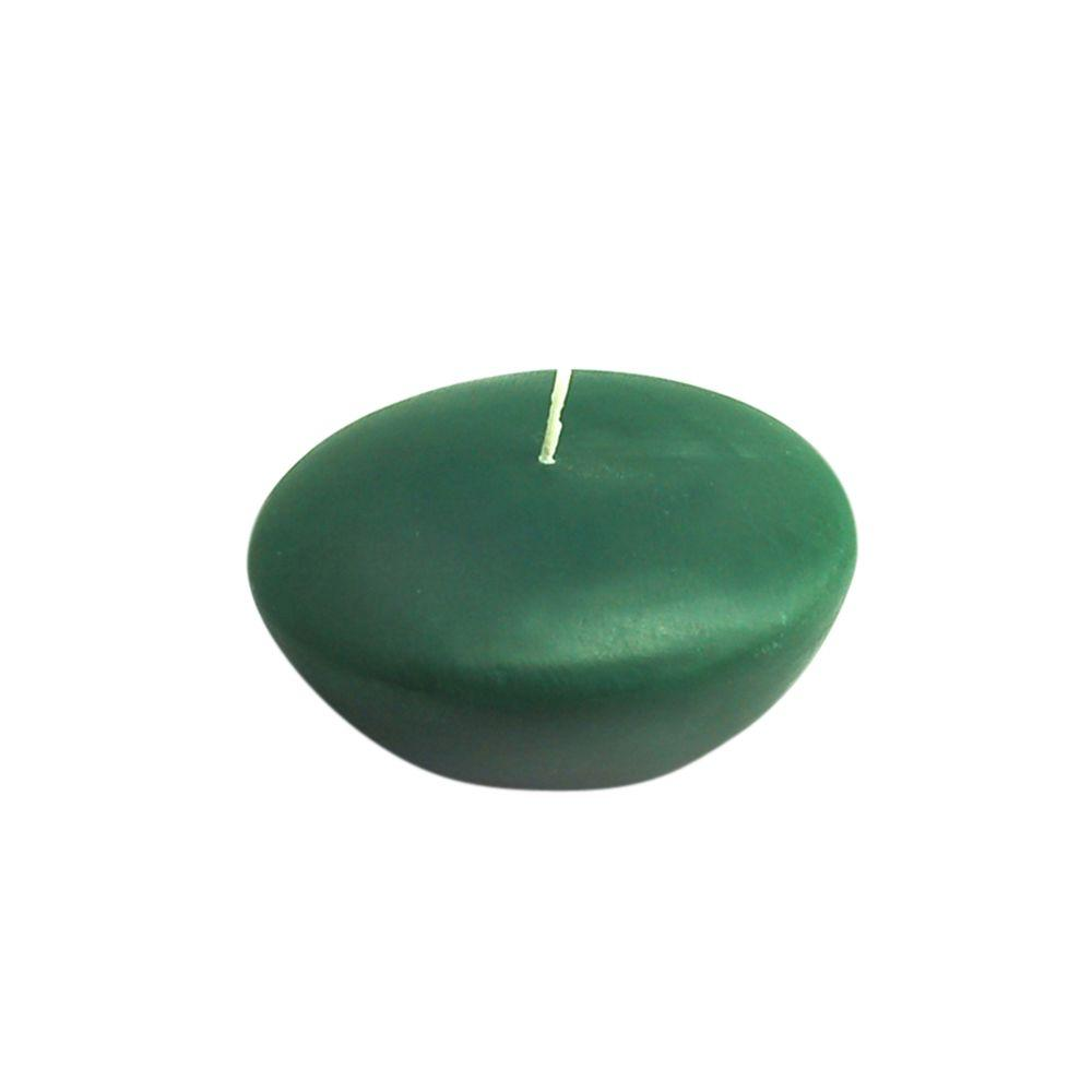 Zest Candle 3 in. Hunter Green Floating Candles (12-Box)