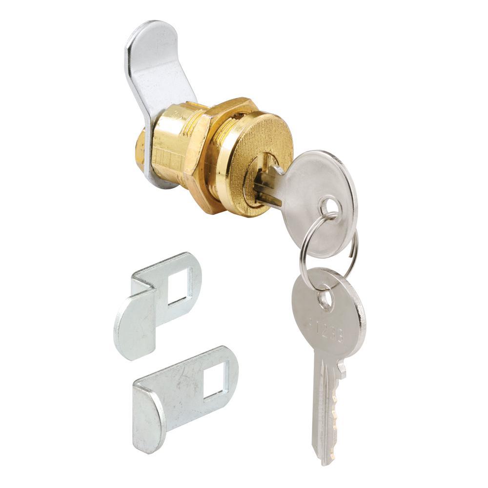 3 Cam 5-Pin Mailbox Lock, Brass Plated