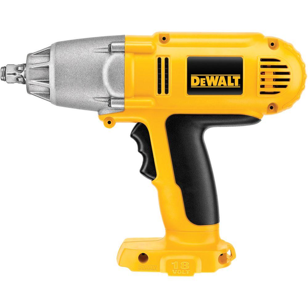 DEWALT 18-Volt NiCd Cordless Impact Wrench with Hog Ring Anvil (Tool-Only)