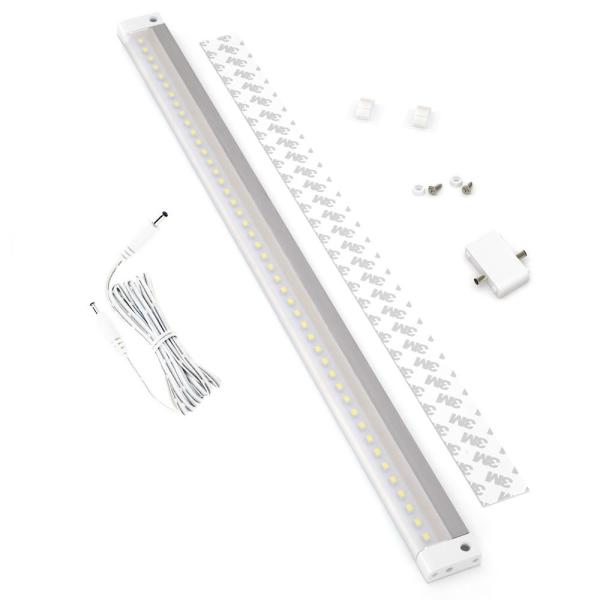20 in. LED 6000K White Under Cabinet Light No Sensor (No Power Supply Included)