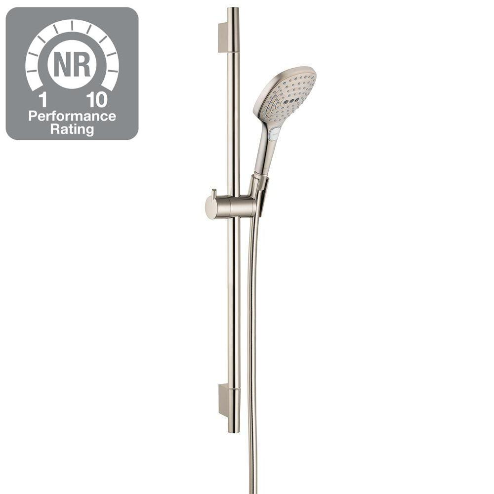 Charmant Hansgrohe Raindance Select E 120 Green 3 Spray Wall Bar Shower Kit In  Brushed Nickel