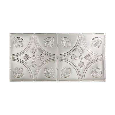 Traditional 5 - 2 ft. x 4 ft. Glue-up Ceiling Tile in Brushed Aluminum
