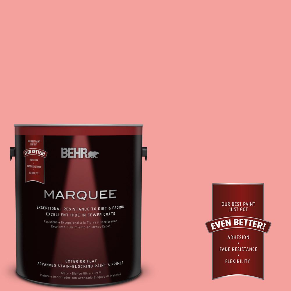 BEHR MARQUEE 1-gal. #150B-4 Pink Eraser Flat Exterior Paint