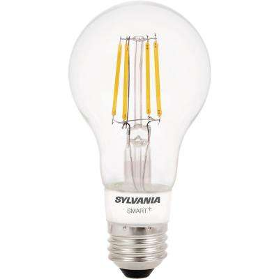 SMART+ Bluetooth 40W Equivalent Soft White Dimmable Filament A19  LED Light Bulb