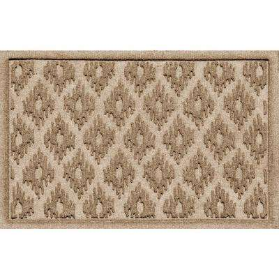 Ikat Camel 24 in. x 36 in. Polypropylene Door Mat
