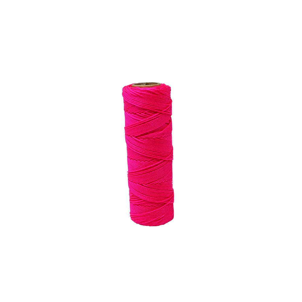 350 ft. Tube Fluorescent Pink Twisted Nylon Line