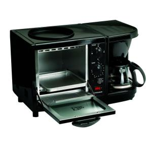 Elite Black Breakfast Center Toaster Oven by Elite