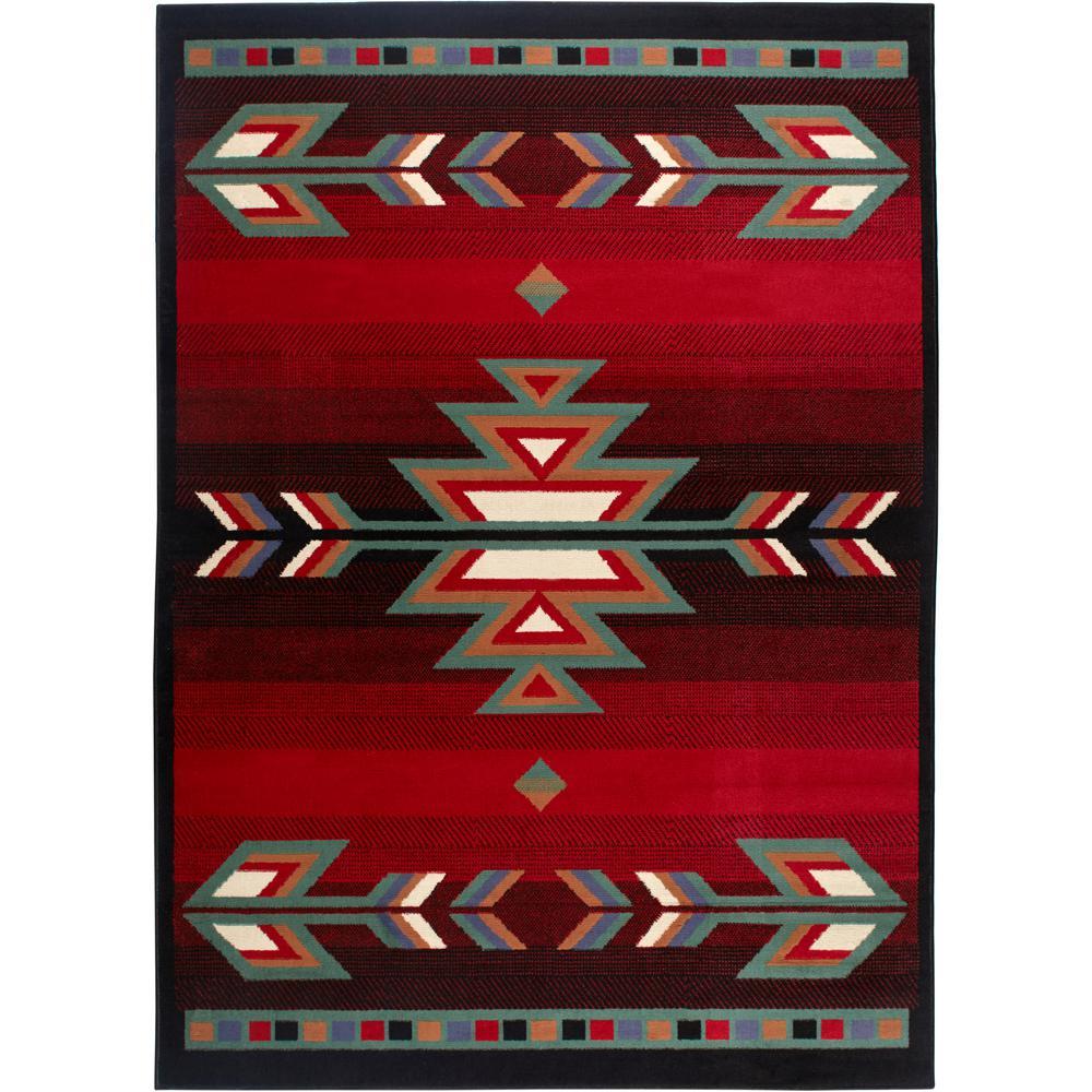 Home Dynamix Premium Black Red 5 Ft X 7 Ft Indoor Area Rug 2 7053