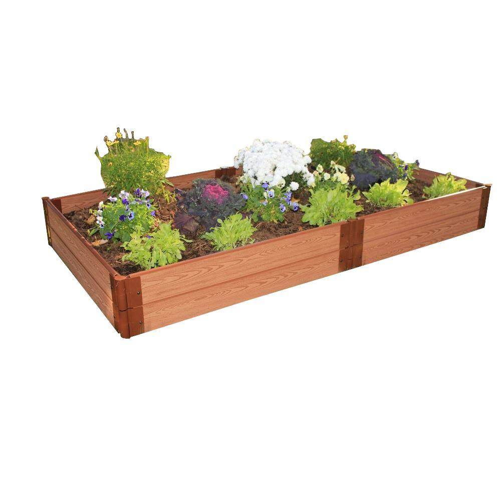 Frame It All One Inch Series 4 ft. x 8 ft. x 11 in. Composite Raised Garden Bed Kit