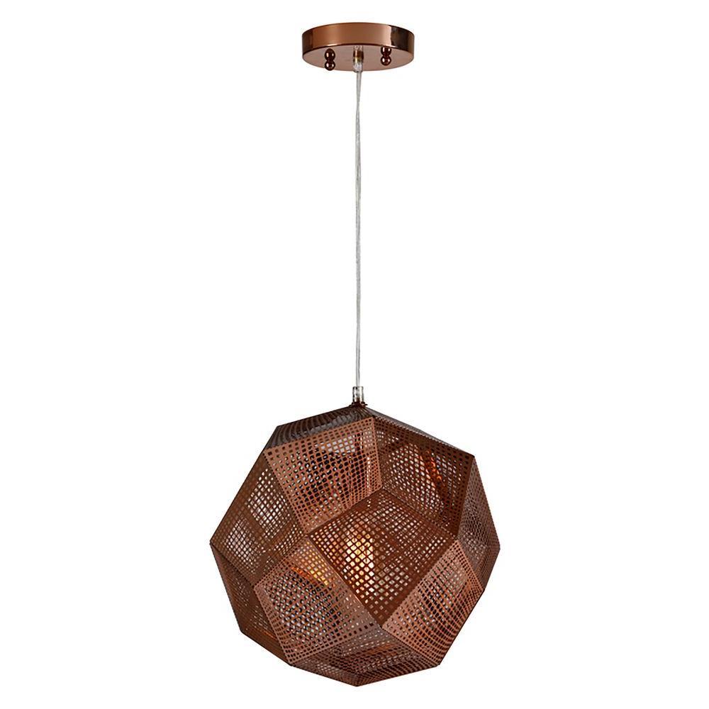 Geodesico 1 Light Copper Pendant