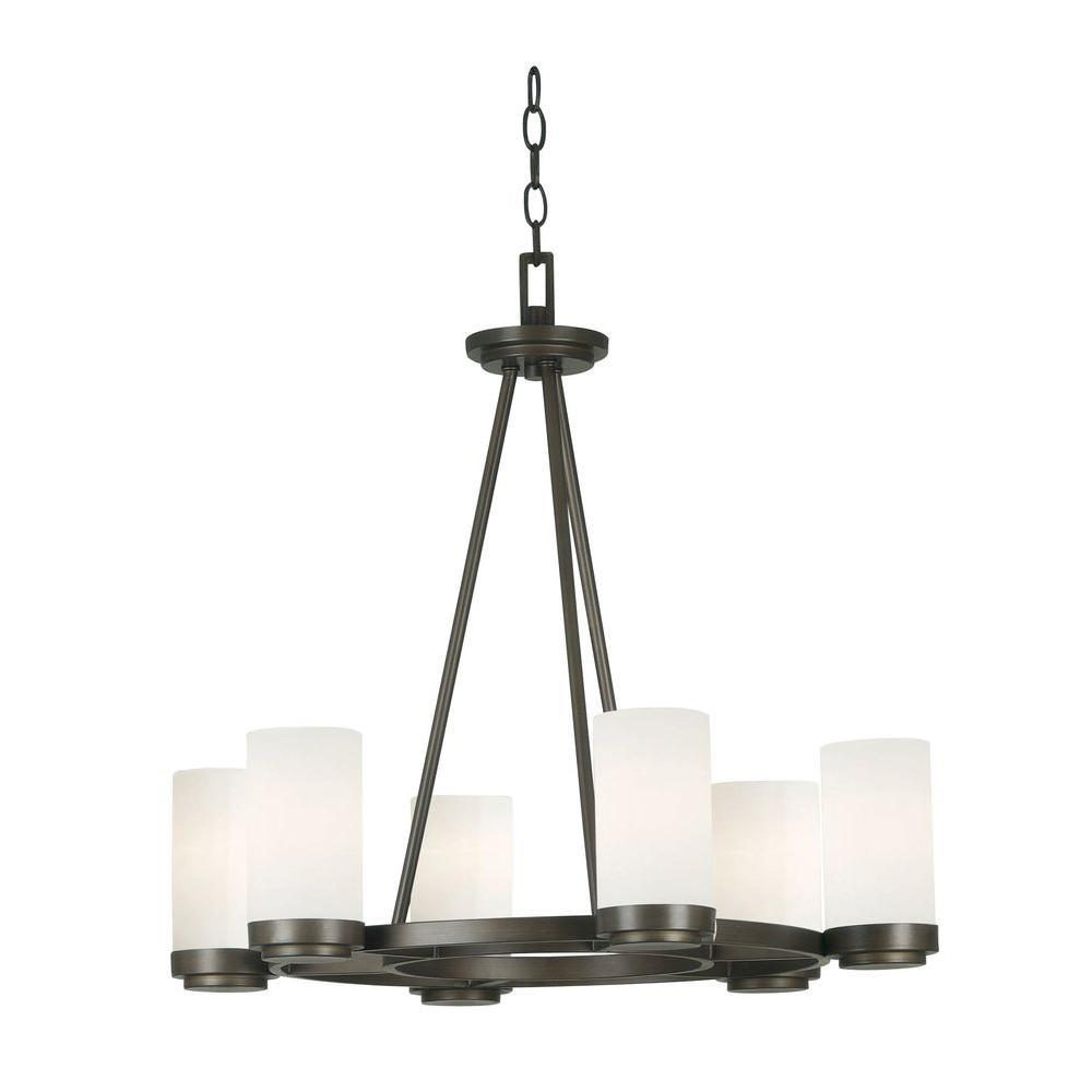 kenroy home toronto 6 light satin bronze chandelier 91766sbz the