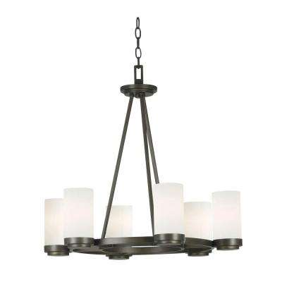 Toronto 6-Light Satin Bronze Chandelier