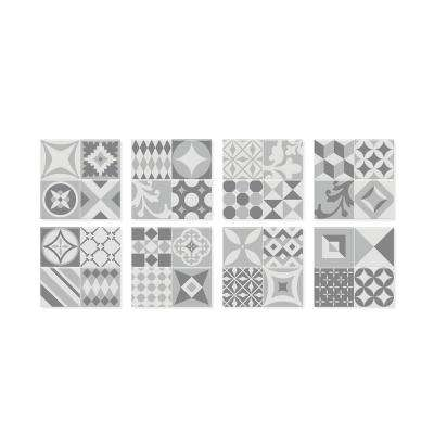 Vintage Gallo 9 in. W x 9 in. H Peel and Stick Self-Adhesive Decorative Mosaic Wall Tile Backsplash (4-Pack)