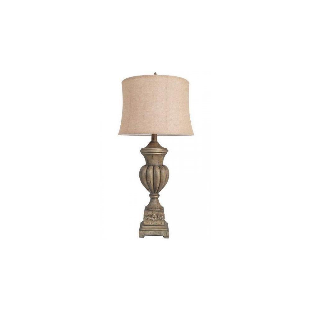 Home Decorators Collection Gedda 6 in. Antique Gold Table Lamp