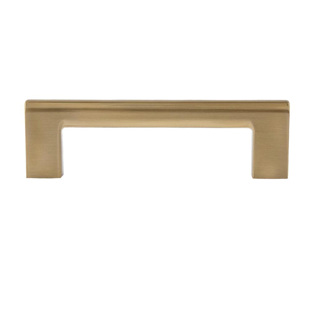 Sumner Street Home Hardware Vail 4 in. Satin Brass Drawer Pull (10-Pack)