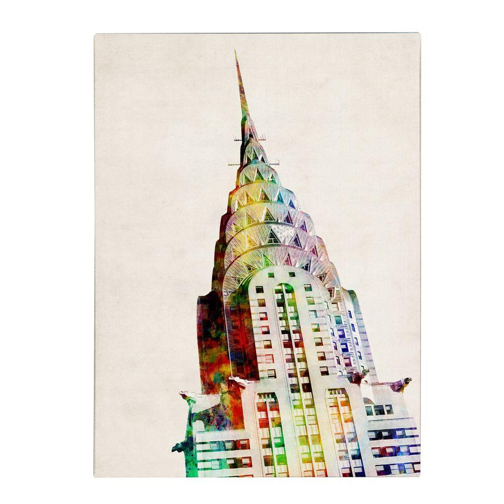 19 in. x 14 in. Chrysler Building Canvas Art