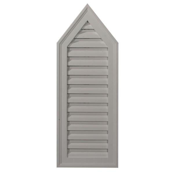 12 in. x 32 in. Steeple Primed Polyurethane Paintable Gable Louver Vent