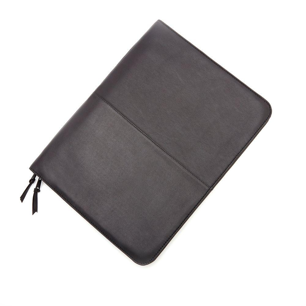 Black Luxury Zip Around Writing Portfolio and iPad Tablet Organizer in