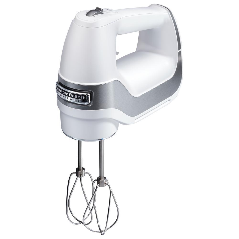 Professional 5-Speed White Hand MIxer