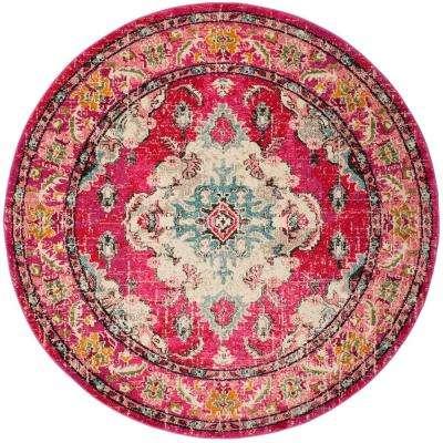 Monaco Pink/Multi 6 Ft. 7 In. X 6 Ft. 7 In