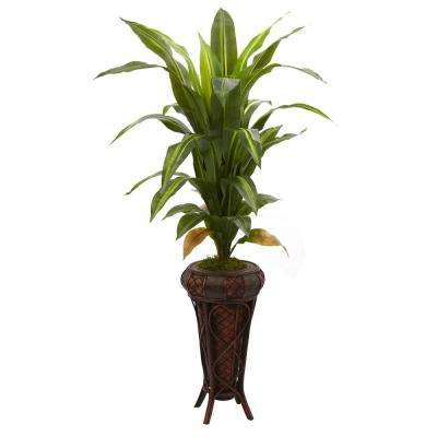 Real Touch 57 in. Dracaena with Stand Silk Plant