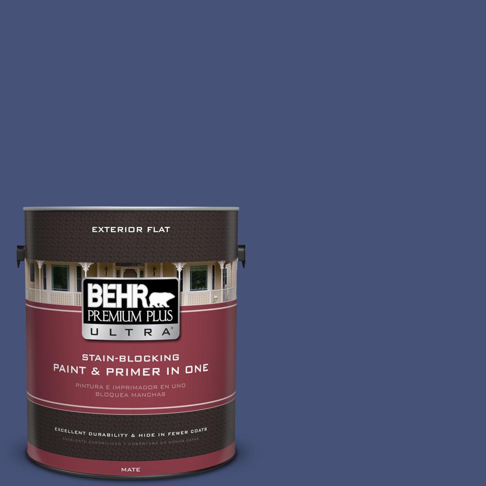 1-gal. #620D-7 Deep Indigo Flat Exterior Paint
