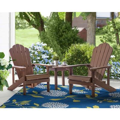 Brown Reclining Wood Adirondack Chair