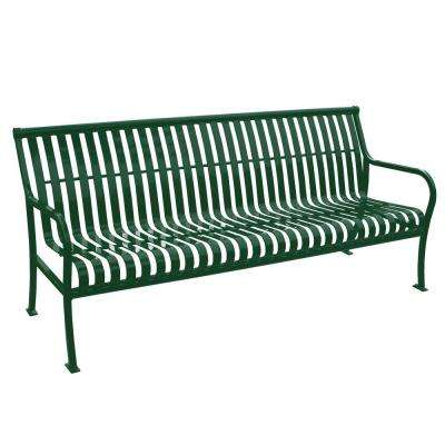 6 ft. Green Premier Bench