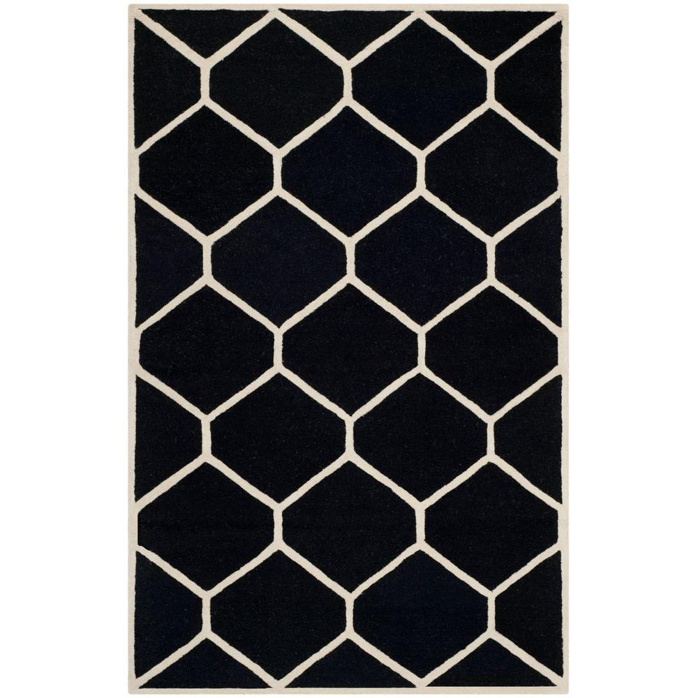Safavieh Cambridge Black/Ivory 5 ft. x 8 ft. Area Rug