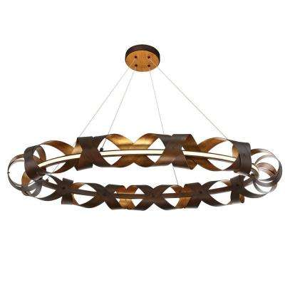 Banderia Collection 60-Watt Large Bronze Integrated LED Chandelier