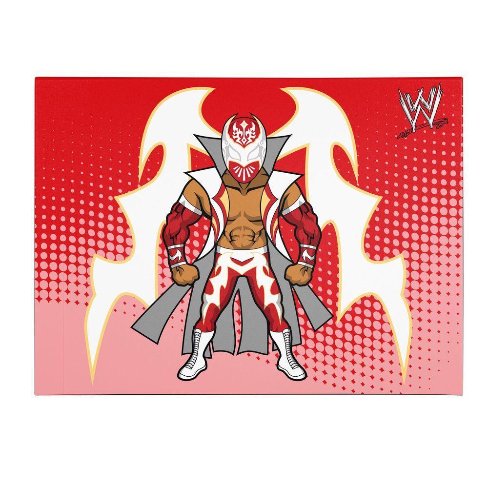 Trademark Fine Art 18 in. x 24 in. Officially Licensed Sin Cara WWE Kids Canvas Art