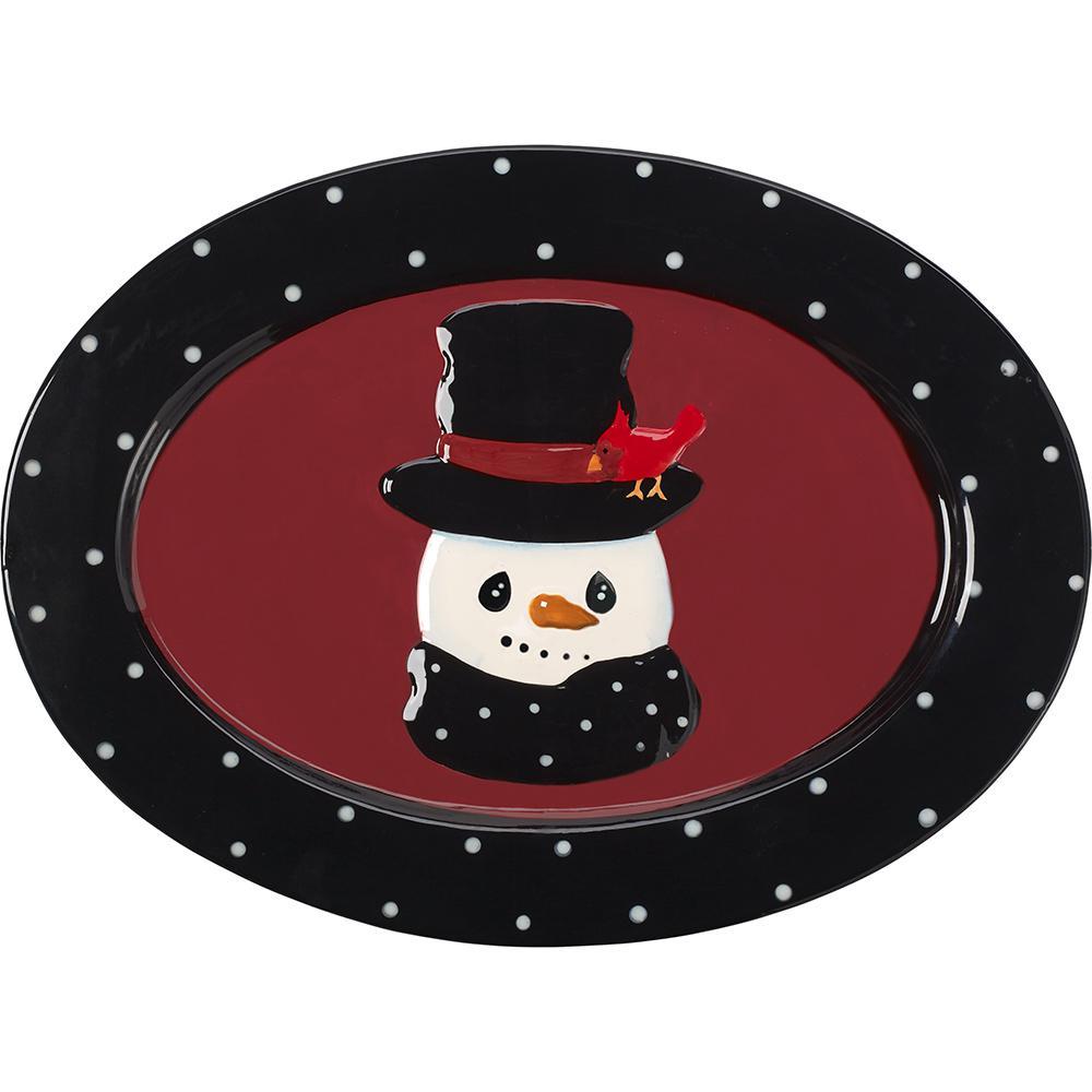 13 in. W Snowman Serving Platter 171473