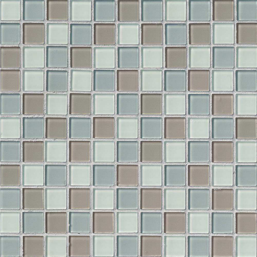 Msi Majestic Ocean  In X  In X Mm Glass Mesh Mounted Mosaic Tile Gls Hd Momm The Home Depot