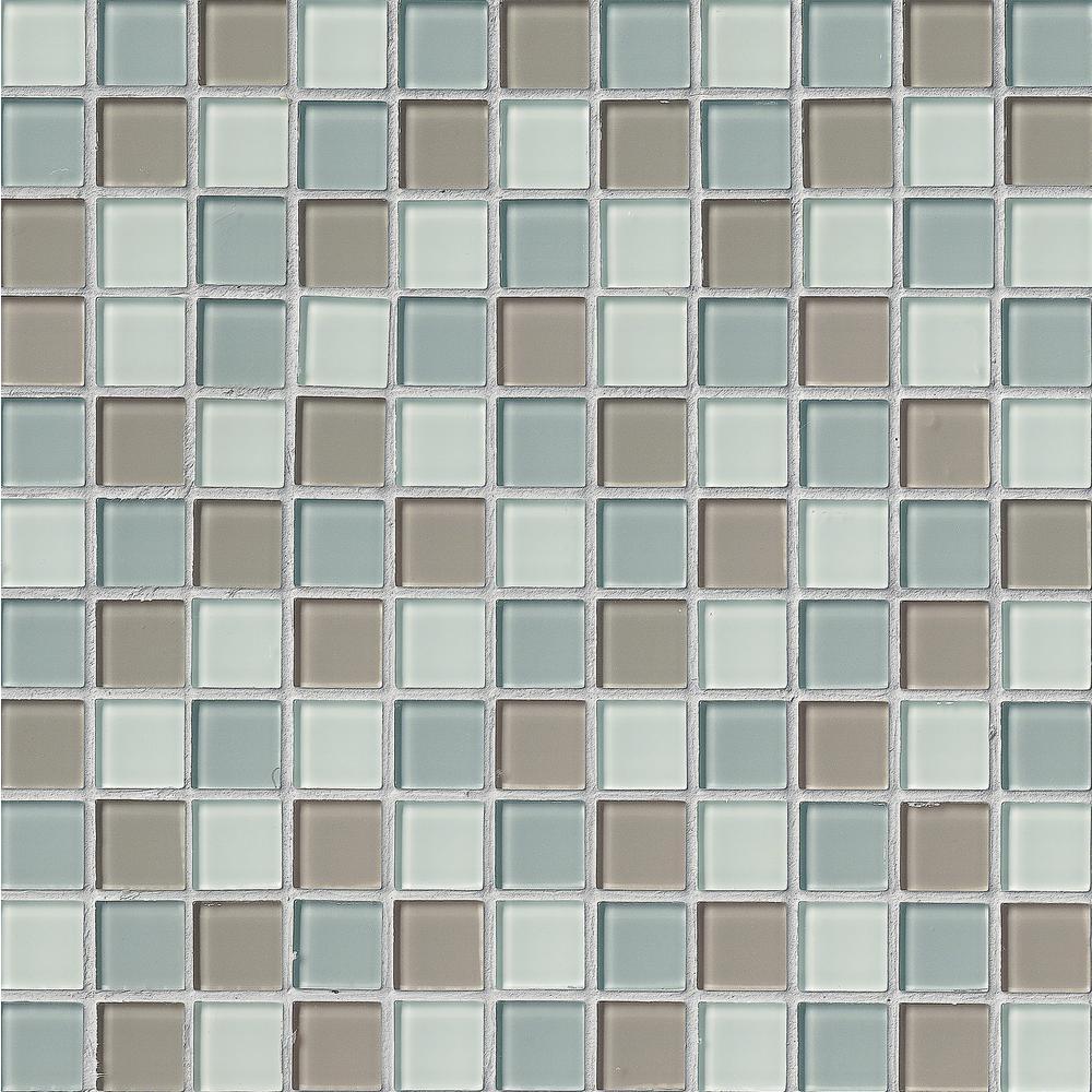 MSI Majestic Ocean 12 in. x 12 in. x 4 mm Glass Mesh-Mounted Mosaic Tile